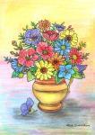 Váza skvětinami