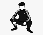 Lidská nápodoba - slav squat